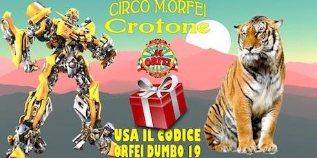 Il Circo M.Orfei a Crotone, dal 18 settembre, sconti biglietti