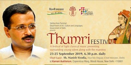Thumri Festival 2019 | Delhi Government tickets