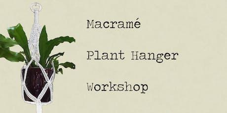 Macramé Plant Hanger Workshop - Rock Leaf Moss @ Port Fairy tickets