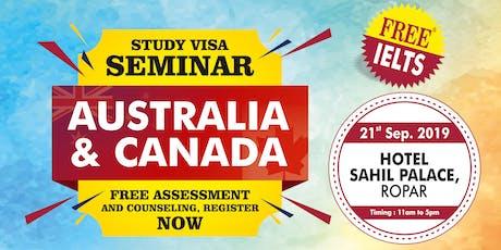 STUDY VISA SEMINAR - CANADA & AUSTRALIA tickets
