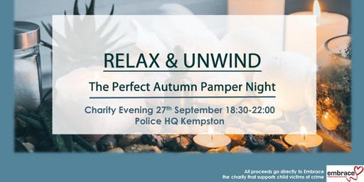 Autumn Pamper and Wellbeing Evening in aid of the charity Embrace