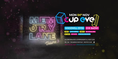 Memory Lane Volume 3 tickets