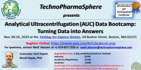 Analytical Ultracentrifugation (AUC) Data Bootcamp tickets