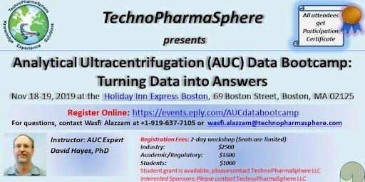Analytical Ultracentrifugation (AUC) Data Bootcamp