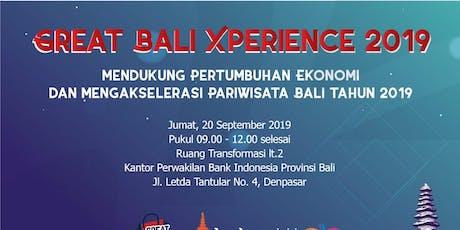 Sosialisasi Great Bali Xperience 2019 tickets
