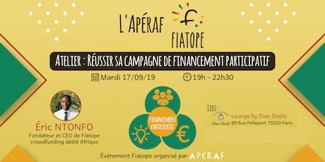 L'Apéraf Fiatope • Réussir sa campagne de financement participatif billets