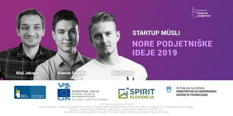 Start:up Müsli: Nore podjetniške ideje 2019 tickets