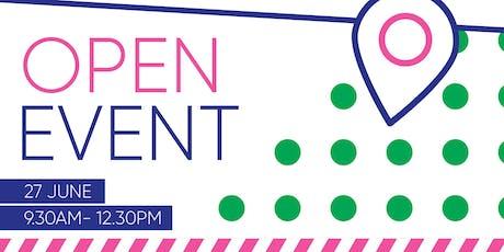 27 June Open Event tickets