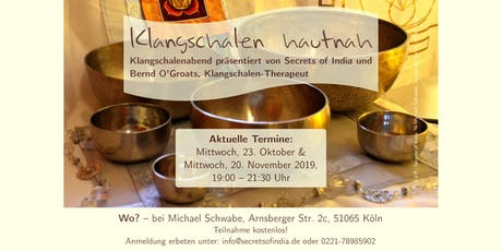 Klangschalen hautnah Tickets
