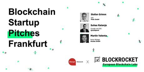 Blockchain Startup Pitches - Frankfurt tickets