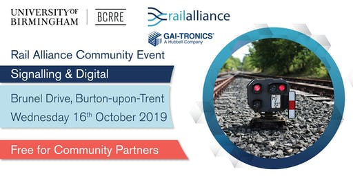 Rail Alliance Community event: Signalling & Digital