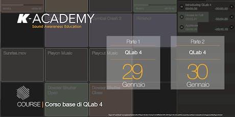 Corso base di QLab 4 biglietti