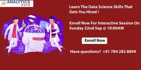 Join Free Data Science Interactive Session Experts On 22nd ,September 10AM tickets