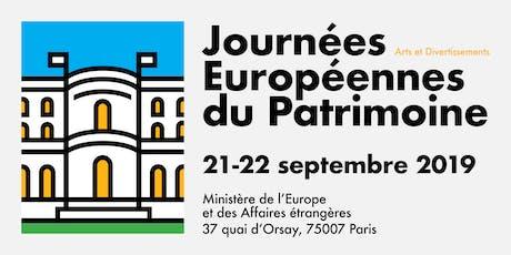 Journées du Patrimoine - Ministère de l'Europe et des Affaires étrangères billets