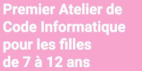 Atelier Code Informatique pour les Filles de 7 à 12  ans tickets