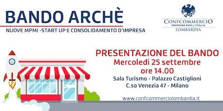 Presentazione Bando ARCHE' in Confcommercio Lombardia biglietti