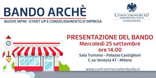 Presentazione Bando ARCHE' in Confcommercio Lombardia