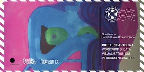 Rotte in Cartolina - Workshop di Data  Visualization sui percorsi migratori biglietti