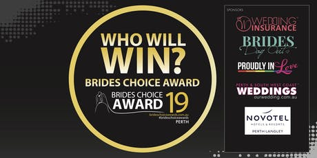 Perth Brides Choice Awards Gala Cocktail Party 2019 tickets