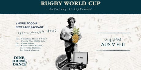 Rugby World Cup AUS v FIJI tickets