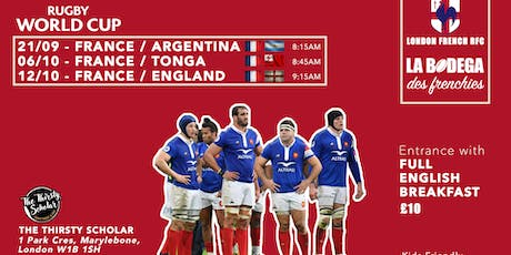 Rugby World Cup: French Supporters Breakfast / London tickets