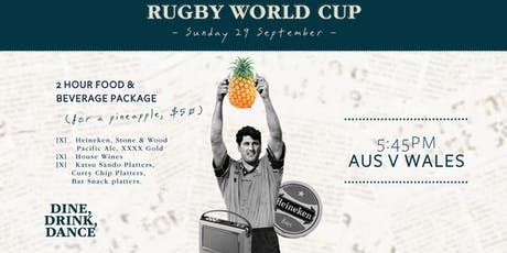 Rugby World Cup AUS v WALES tickets