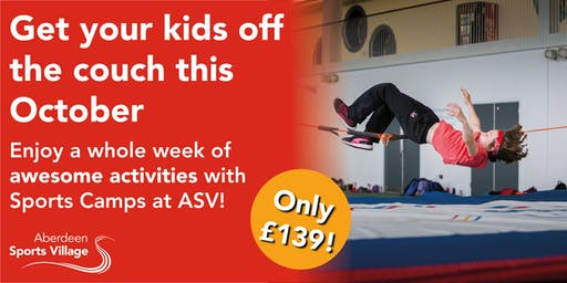 Sports Camps at ASV October 2019 - Week 1