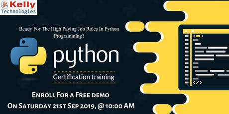 Free Demo On Python Training Exclusively By Experts At Kelly Technologies tickets