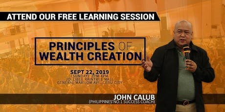 """""""Principles Of Wealth Creation"""" tickets"""