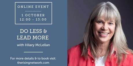ONLINE EVENT: Do Less & Lead More tickets
