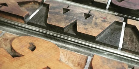 Letterpress poster print workshop tickets