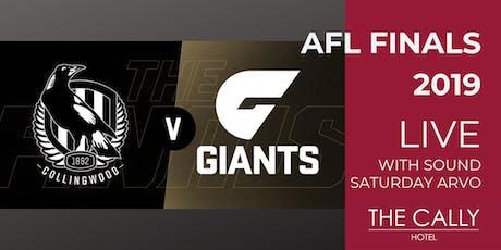 AFL Preliminary Finals 2019 - Collingwood VS GWS tickets