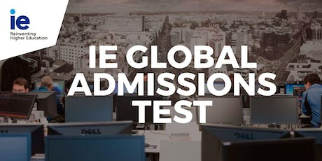 IE Global Admissions Test - Taipei tickets