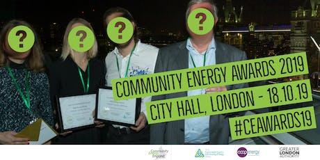 Community Energy Awards 2019 tickets