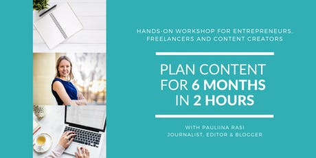 Plan content for 6 months in 2 hours tickets
