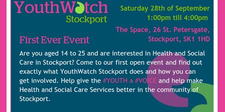 YouthWatch Stockport's First Event tickets