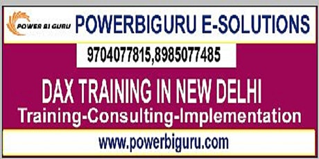 Microsoft Dax training in New Delhi,India tickets