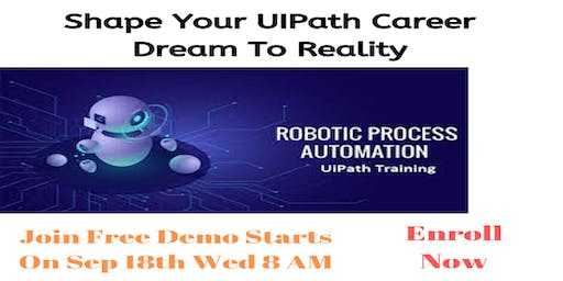 Hurry Up & Enroll For Free Demo On UiPath Training in Hyderabad