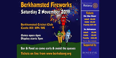 Berkhamsted Rotary Fireworks, DJ and BBQ tickets