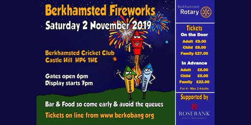 Berkhamsted Rotary Fireworks, DJ and BBQ