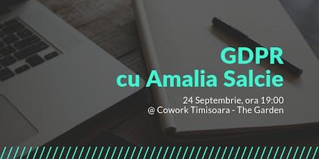 GDPR cu Amalia Salcie tickets