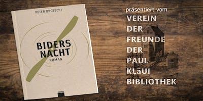 """Biders Nacht"" Lesung durch Peter Brotschi"