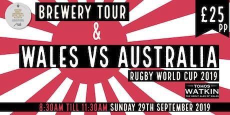 Wales v Australia + Mini Brewery Tour tickets