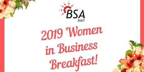2019 RMIT BSA Women in Business Breakfast tickets