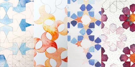 Geometric Art and Watercolour Workshop with Halimah Denney tickets