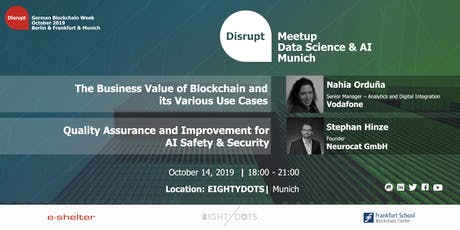 German Blockchain Week 2019 | AI in Blockchain and Quality Assurance tickets