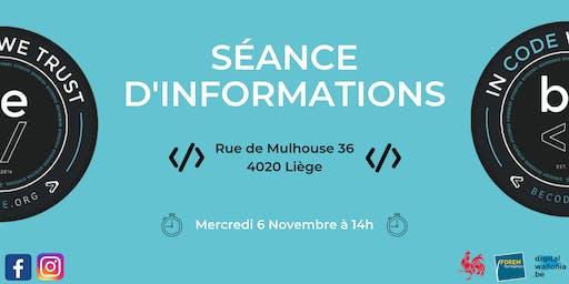 Séance Information - BeCode Liège