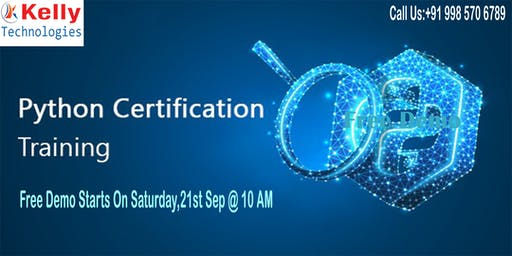 Free Demo On Python By The Industry Experts On 21st Sep, 10 AM