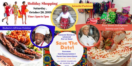 Holiday Popup Shop Featuring Almira Léonché, Chef Badara Jenneh, and Pastry Chef Janice Queen tickets