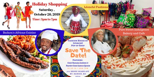 Holiday Popup Shop Featuring Almira Léonché, Chef Badara Jenneh, and Pastry Chef Janice Queen